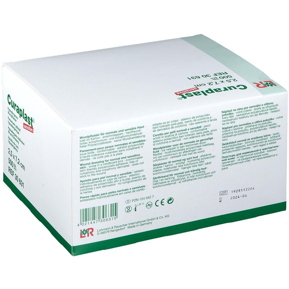 Curaplast® sensitiv strips 2,5 cm x 7,2 cm