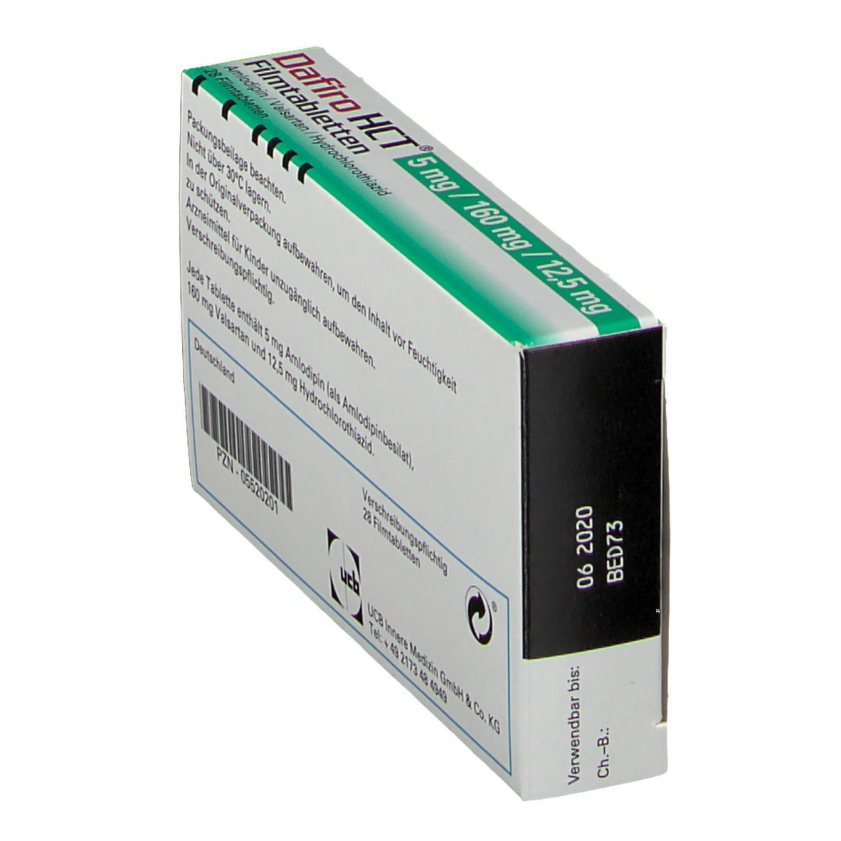 DAFIRO HCT 5 mg/160 mg/12,5 mg Filmtabletten
