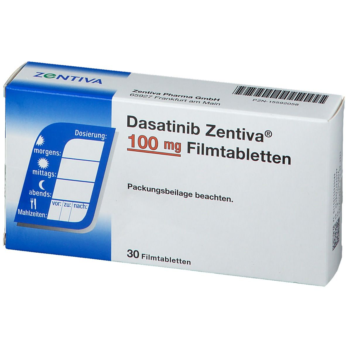 DASATINIB Zentiva 100 mg Filmtabletten