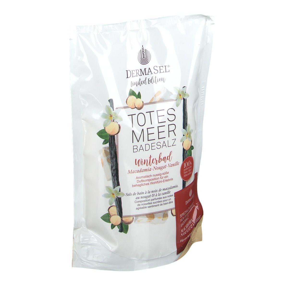 DermaSel® Totes Meer Badesalz Winterbad Macadamia-Nougat-Vanille