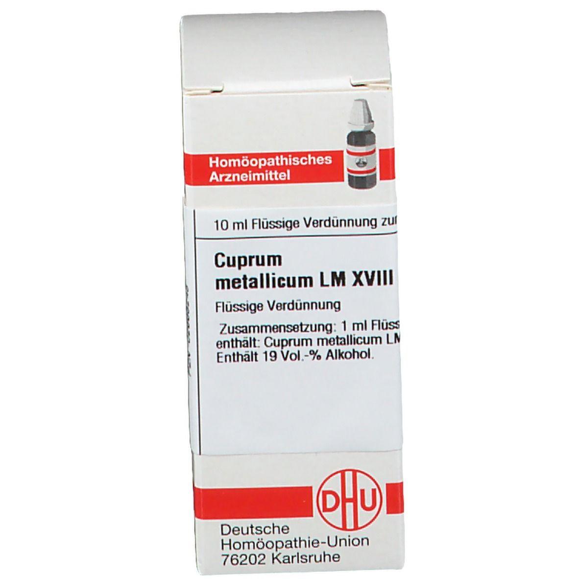 DHU Cuprum Metallicum LM XVIII