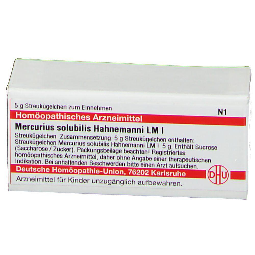 DHU Mercurius Solubilis Hahnemanni LM I