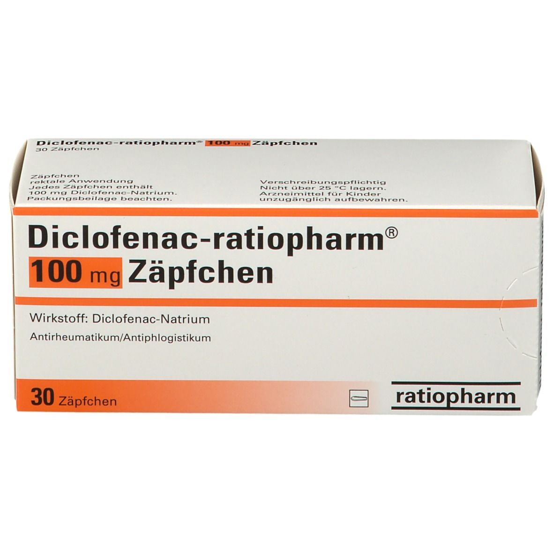 DICLOFENAC ratiopharm® 100 mg Zaepfchen