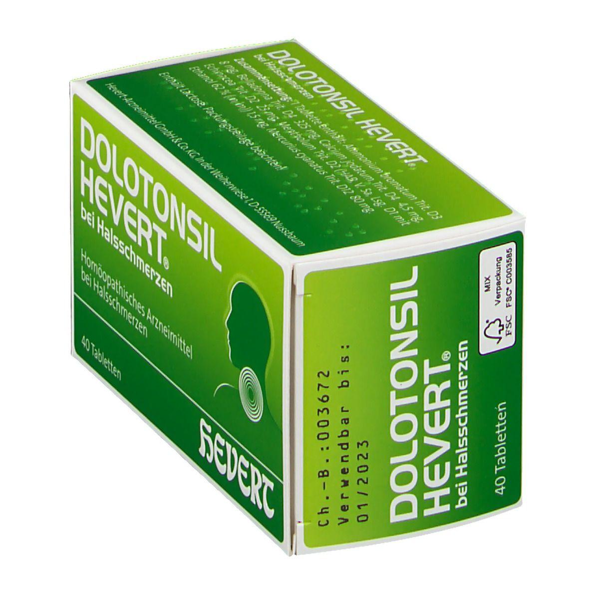 DOLOTONSIL HEVERT® bei Halsschmerzen