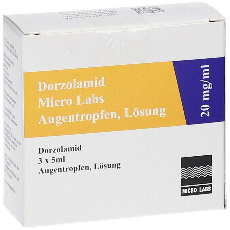 DORZOLAMID Micro Labs 20 mg/ml Augentropfen