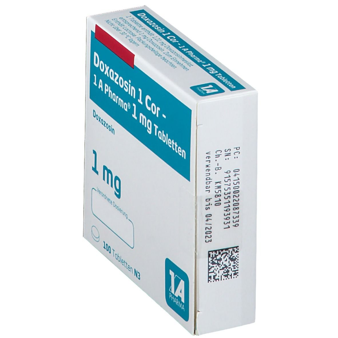 DOXAZOSIN 1 Cor 1A Pharma Tabletten