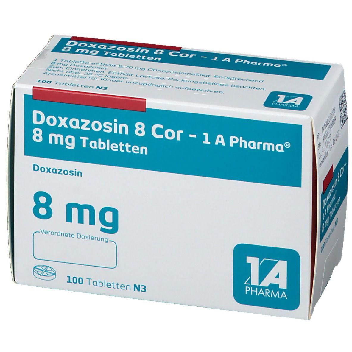 DOXAZOSIN 8 Cor 1A Pharma Tabletten
