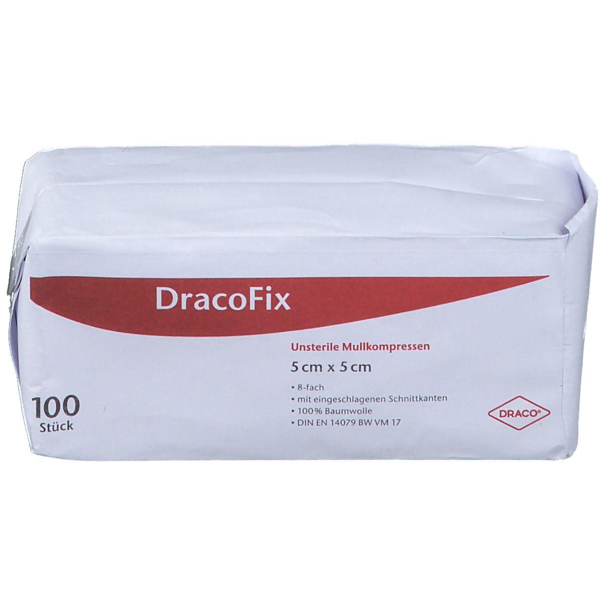DracoFix Mullkompressen unsteril 8fach 5x5cm