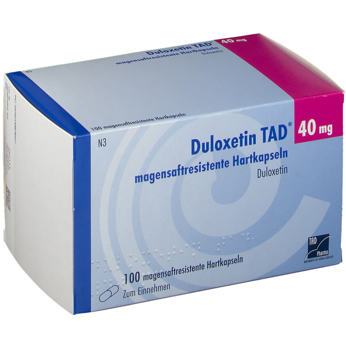 DULOXETIN TAD 40 mg magensaftresistente Hartkaps.