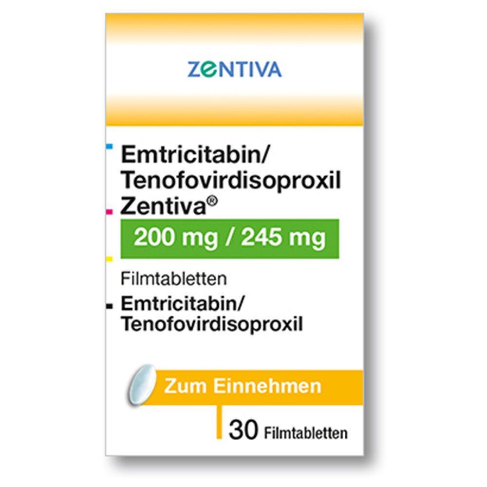 EMTRICITABIN/Tenofovirdisoproxil Zentiva 200/245mg