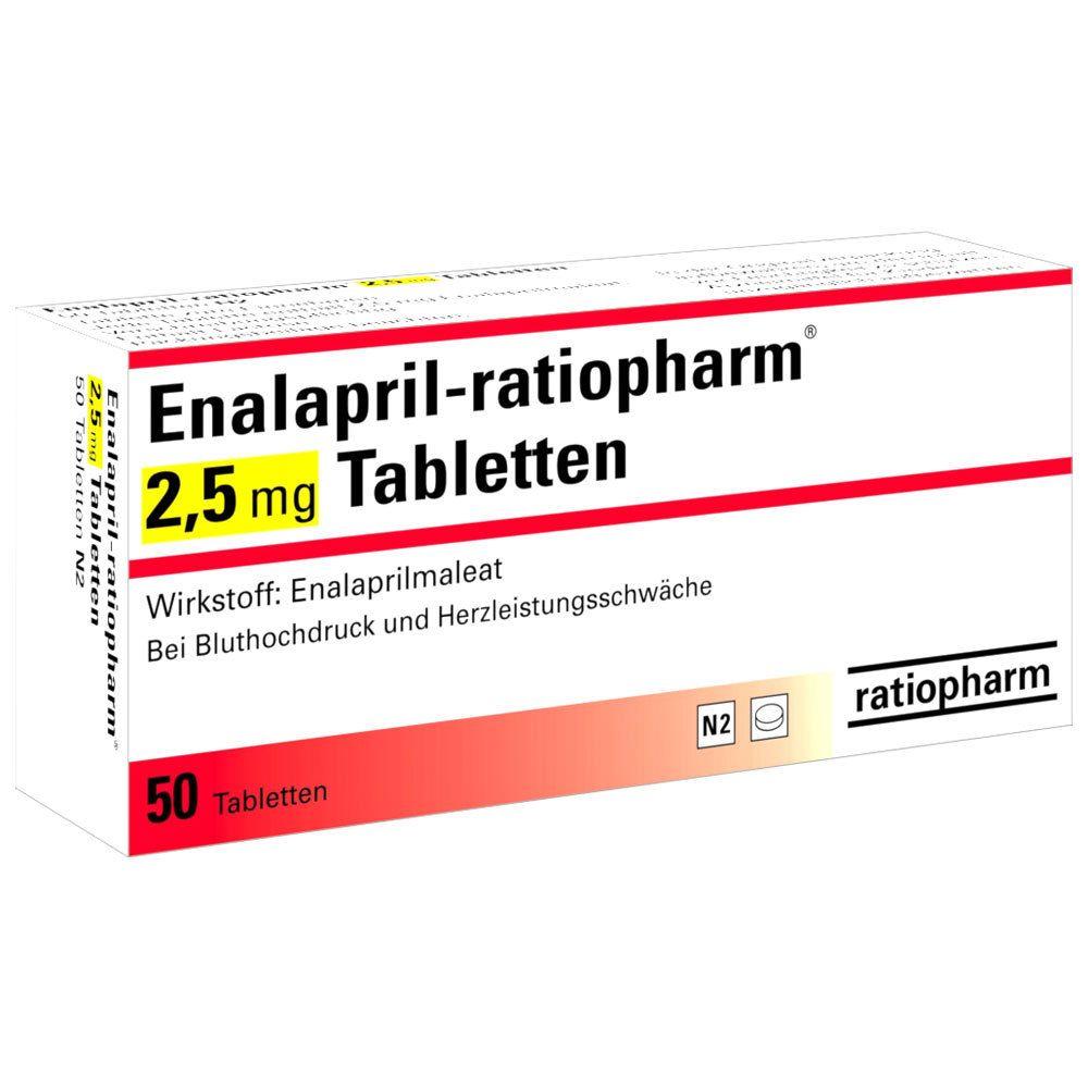 Enalapril-ratiopharm® 2,5 mg Tabletten