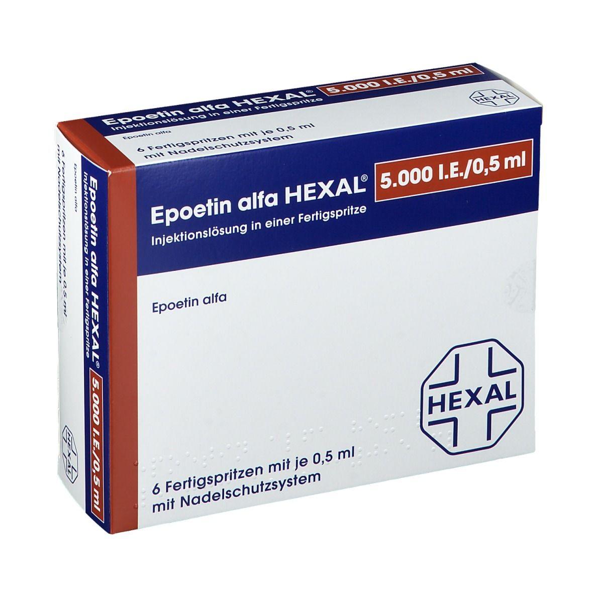 EPOETIN ALFA HEXAL 5000IE