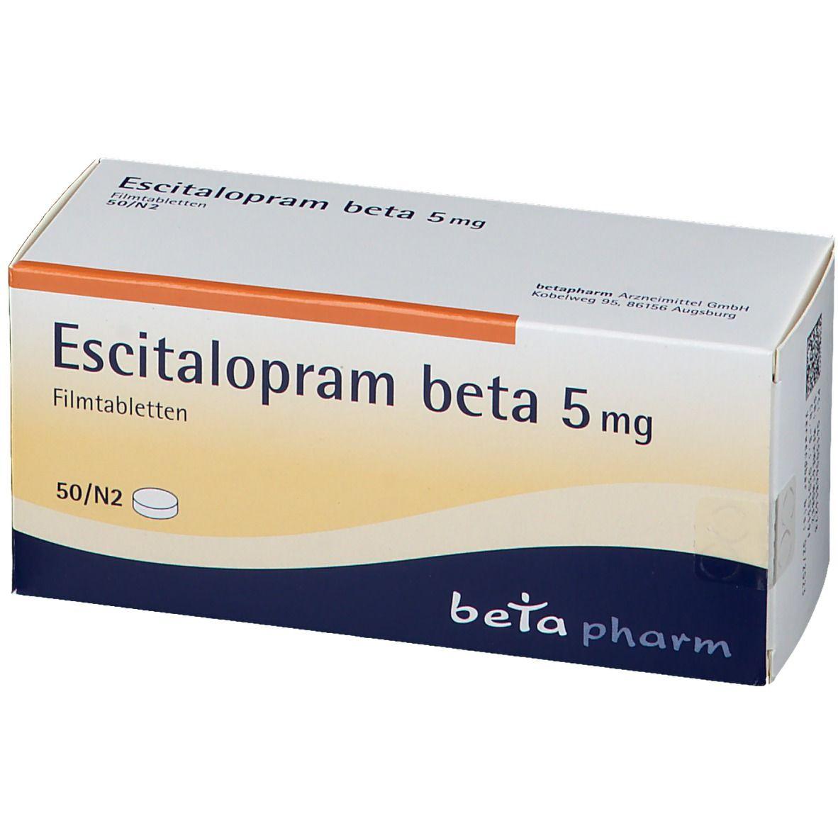 ESCITALOPRAM BETA 5MG