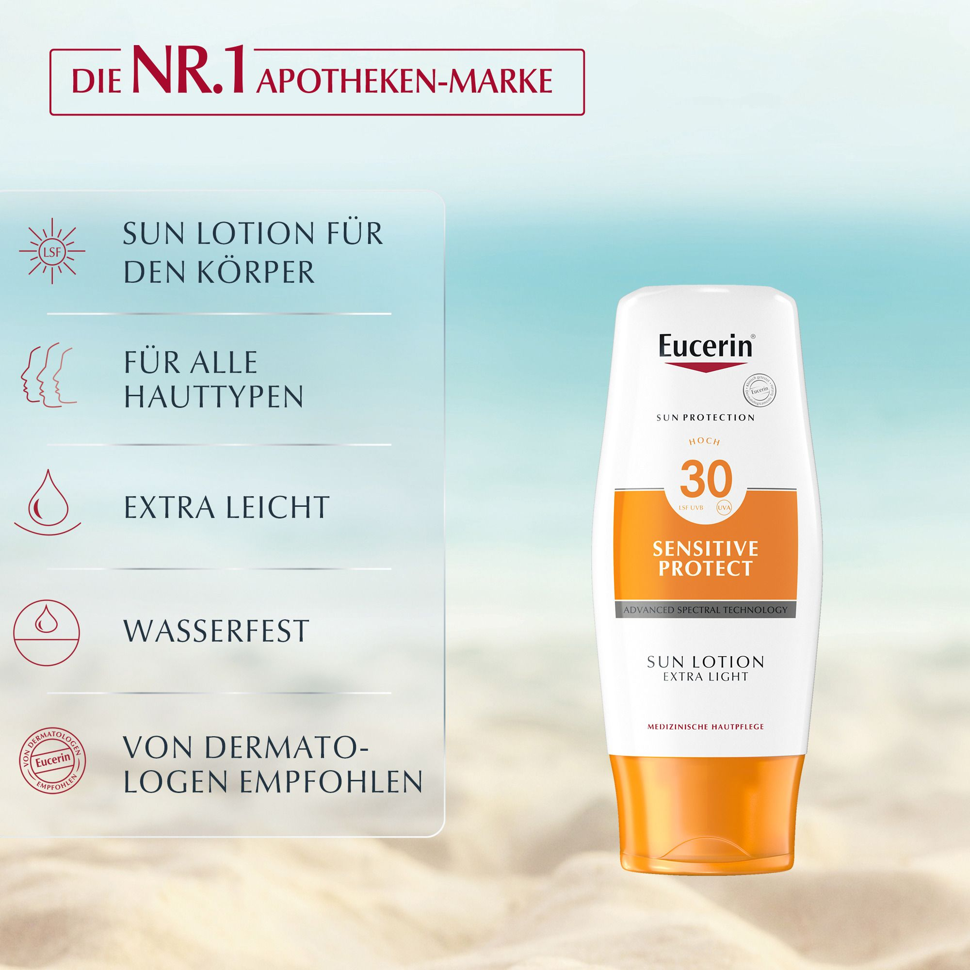 Eucerin Sun Sensitive Protect Lotion Extra Light LSF 30