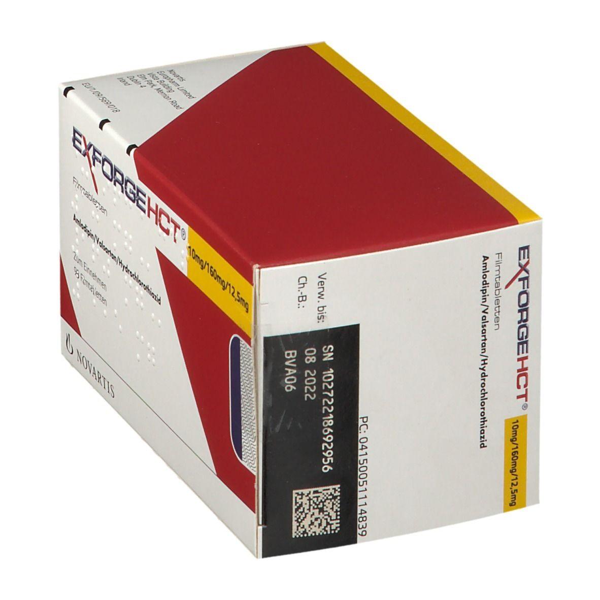 Exforge Hct 10/160/12,5 mg Filmtabletten 98 St - shop ...