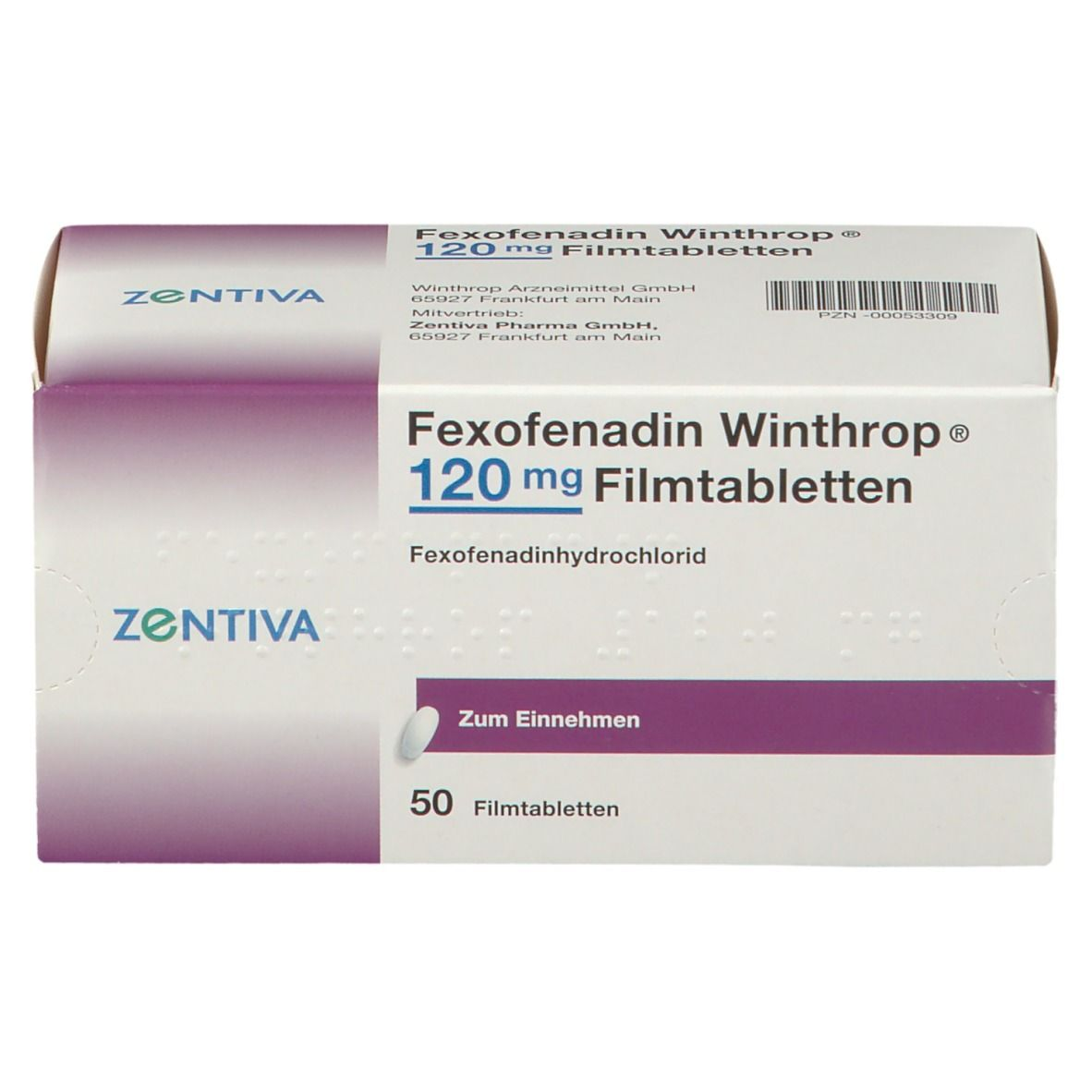 FEXOFENADIN Winthrop 120 mg