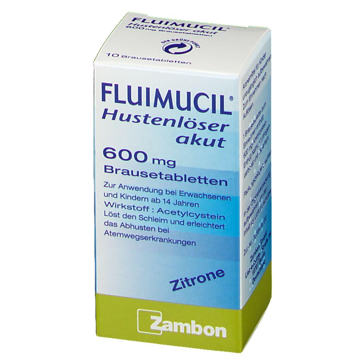 FLUIMUCIL® Hustenlöser akut 600 Brausetabletten