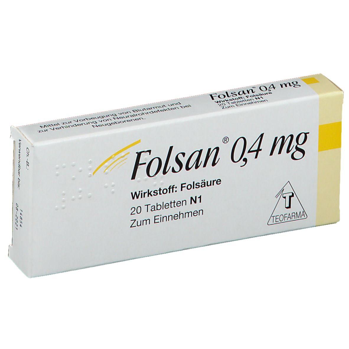 Folsan® 0,4 mg