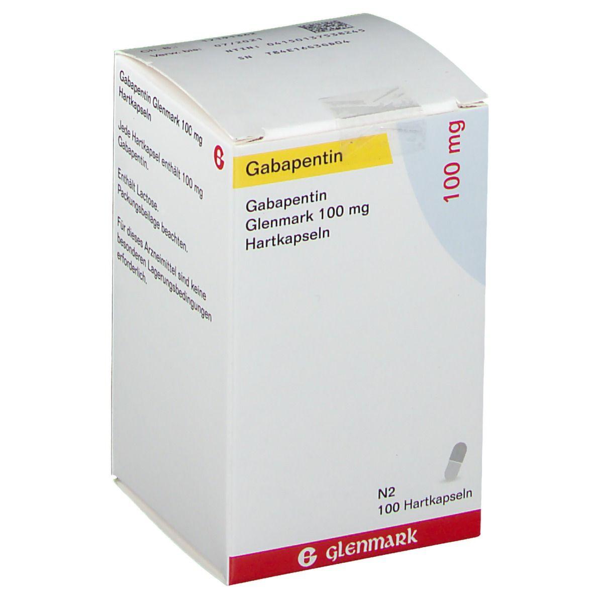 GABAPENTIN Glenmark 100 mg Hartkapseln