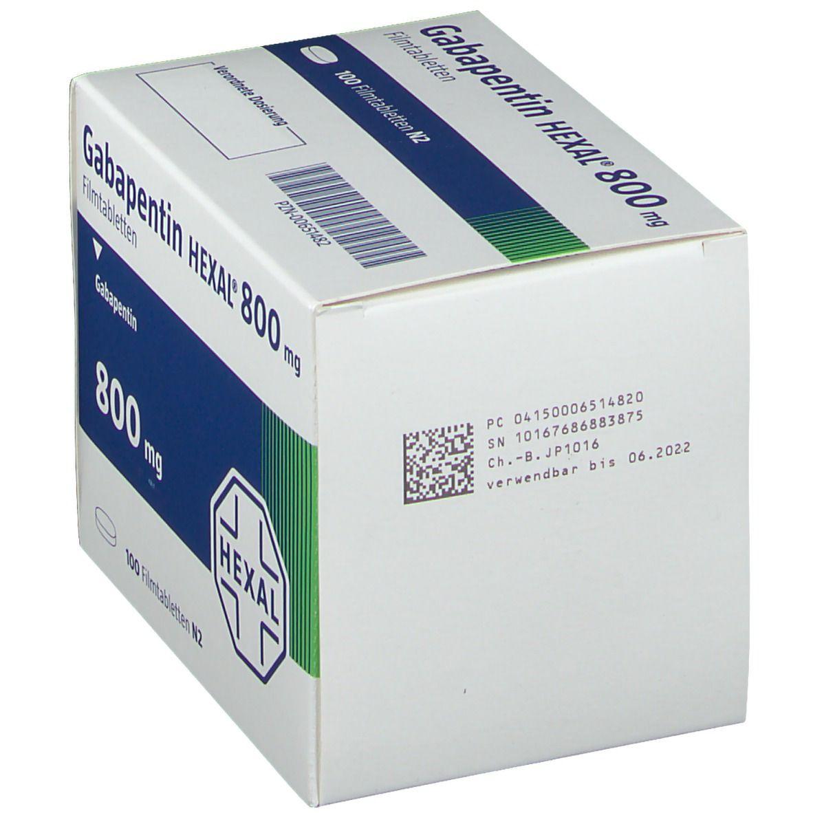 Gabapentin Hexal 800 mg Filmtabletten