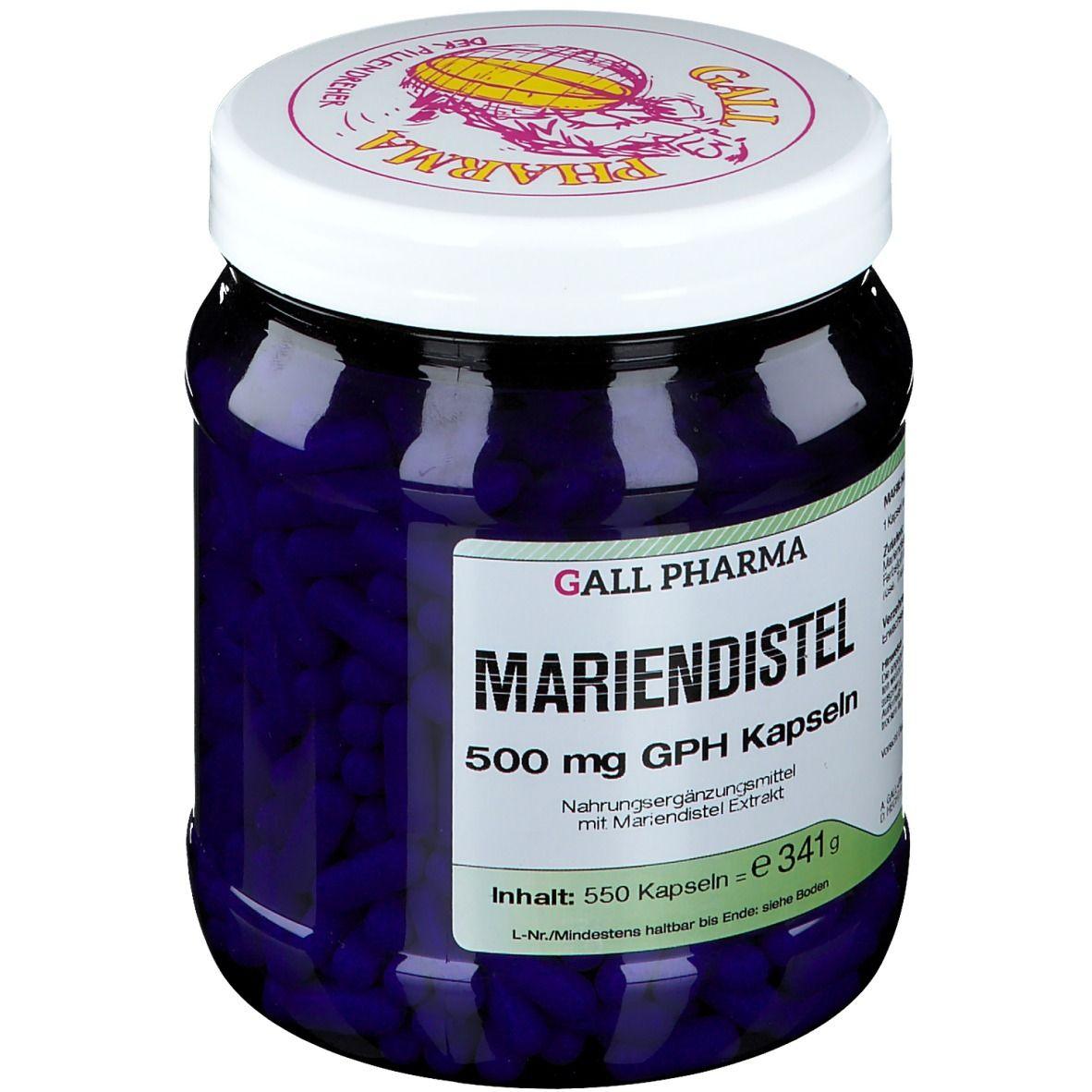 GALL PHARMA Mariendistel 500 mg GPH Kapseln