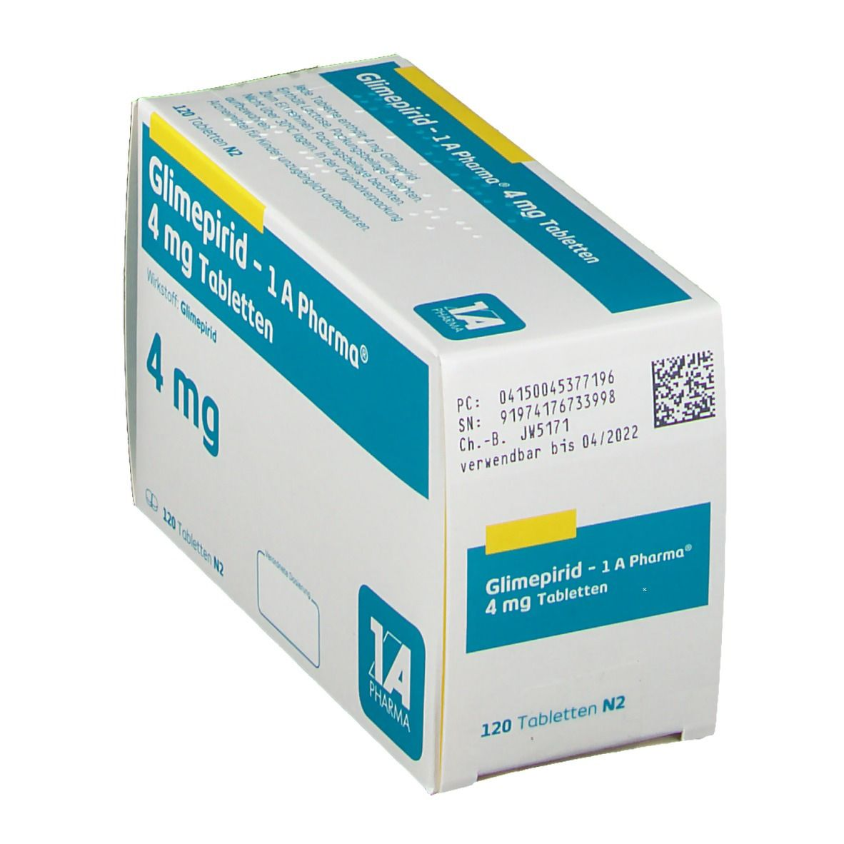 Glimepirid 1 A Pharma 4 mg Tabletten