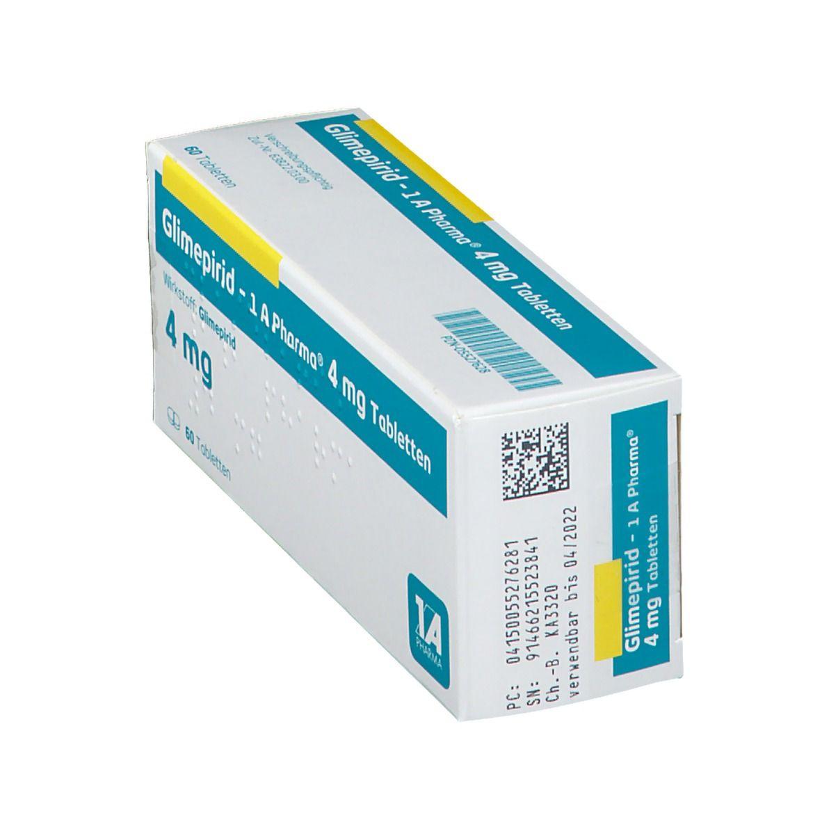 GLIMEPIRID 1A Pharma 4 mg Tabletten