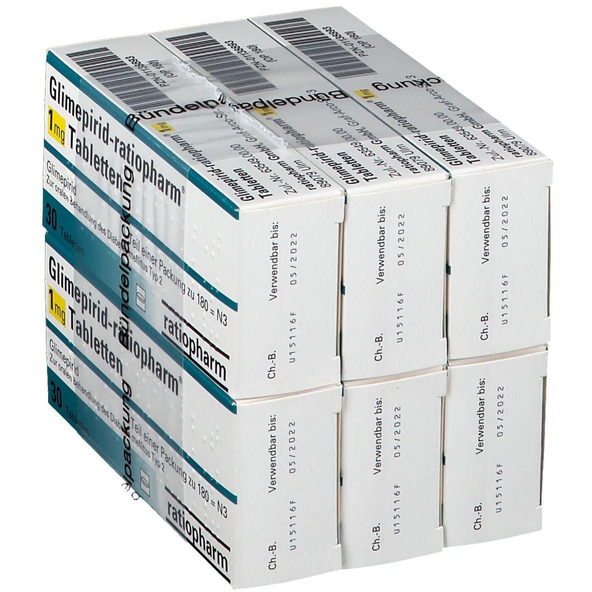 GLIMEPIRID ratiopharm® 1 mg Tabletten