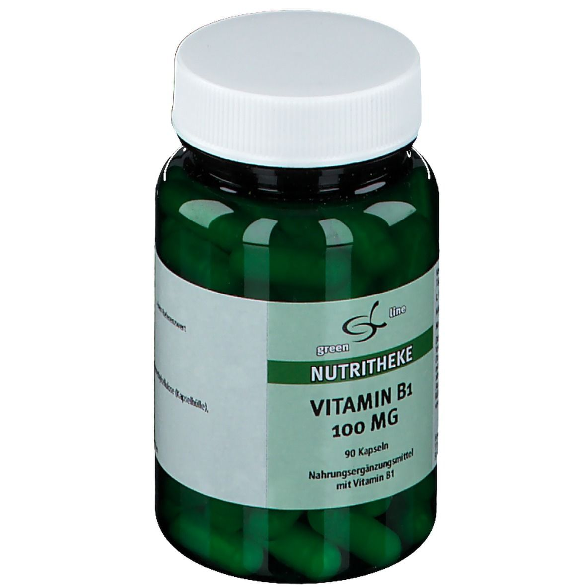 green line Vitamin B1 100 mg