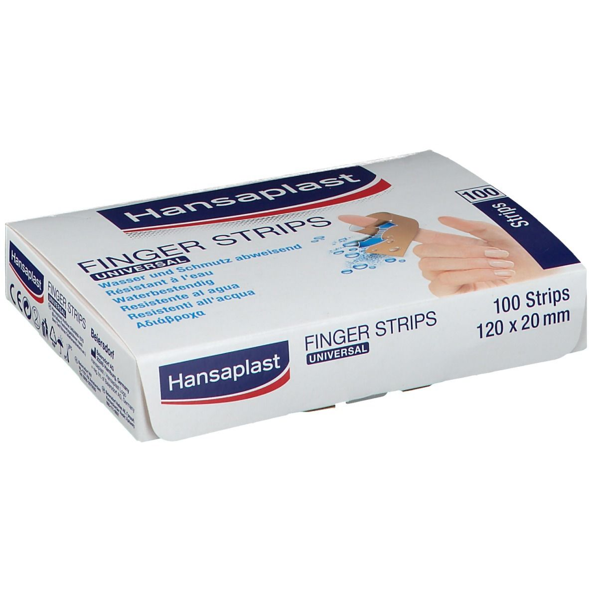 Hansaplast® Finger Strips 120 mm x 20 mm wasserfest