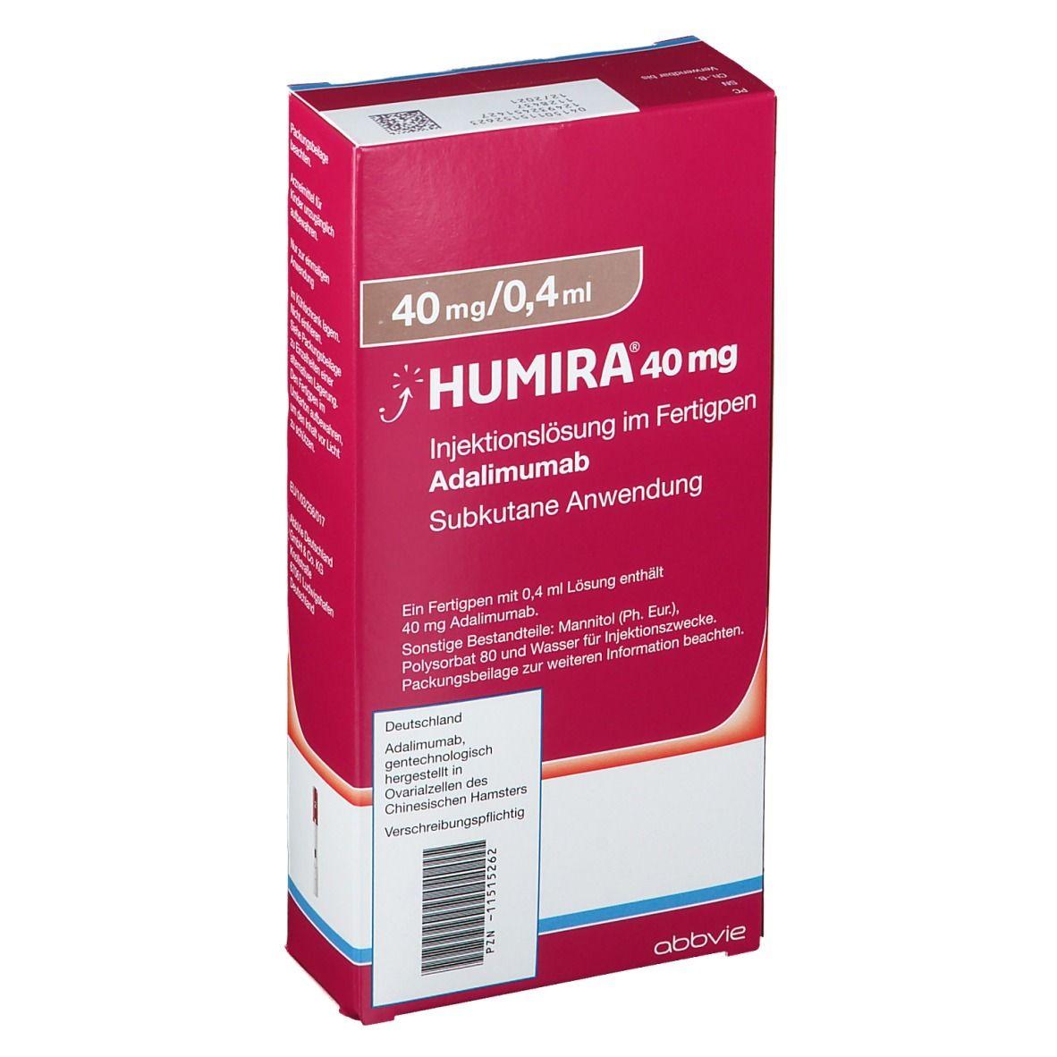 HUMIRA 40 mg/0,4 ml Injektionslösung im Fertigpen