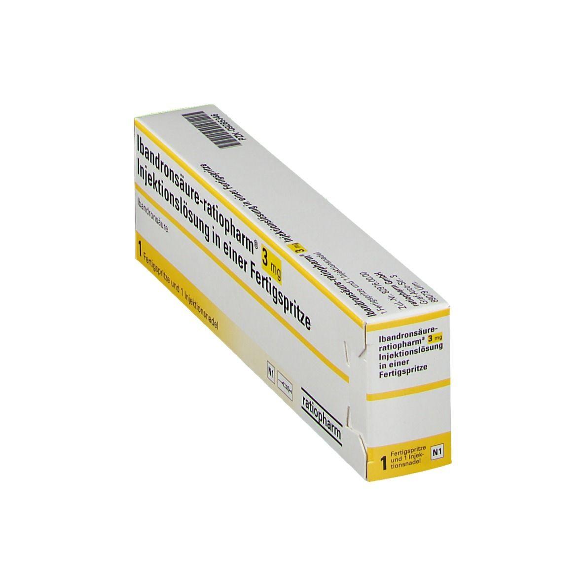 IBANDRONSAEURE ratiopharm® 3 mg Inj.Lsg Fertigspr.