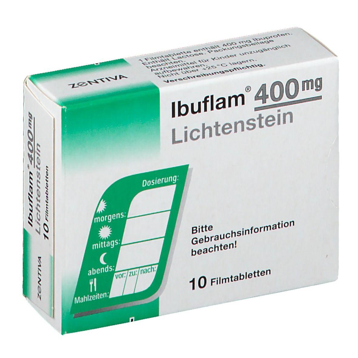 IBUFLAM 400 mg Lichtenstein Filmtabletten 10 St - shop
