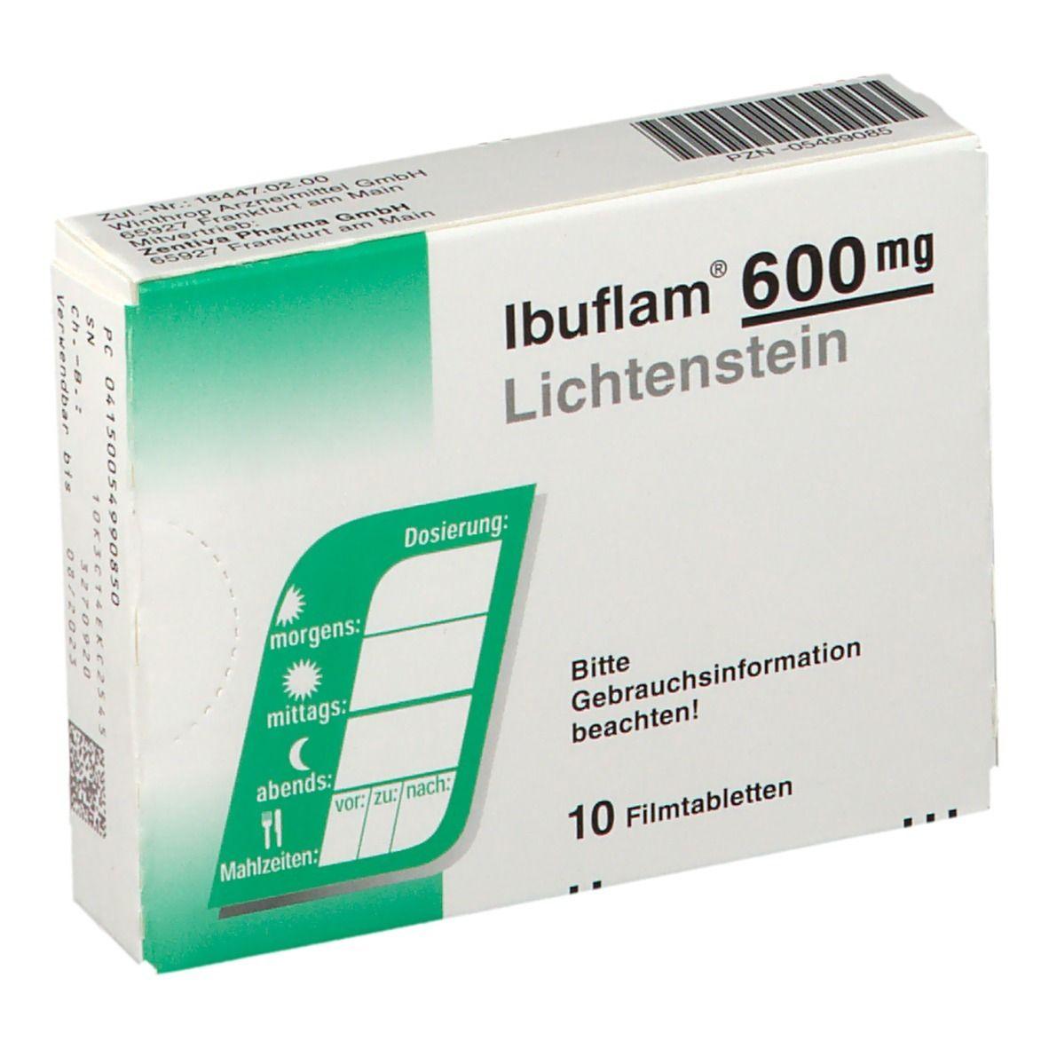 IBUFLAM 600 mg Lichtenstein 10 St - shop-apotheke.com