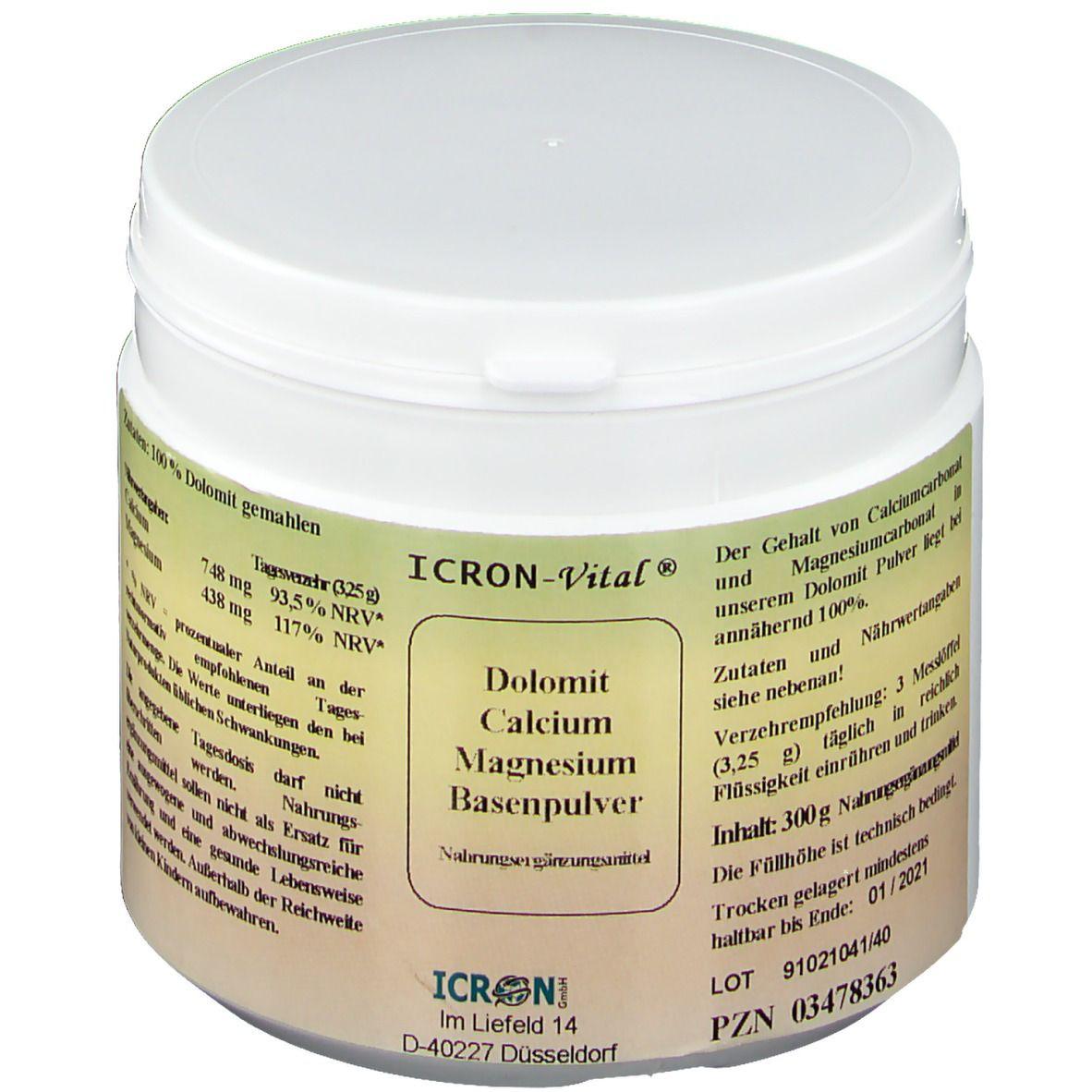 ICRON-Vital® Dolomit Calcium Magnesium Basenpulver