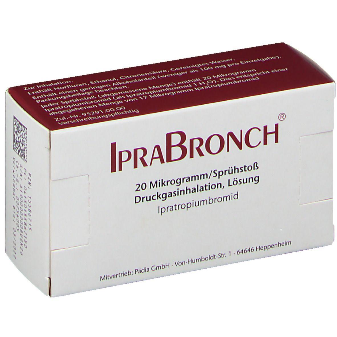 IPRABRONCH 20 µg/Sprühstoß Druckgasinhalation Lsg.