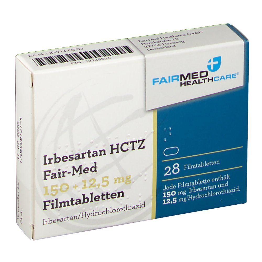 IRBESARTAN HCTZ Fair-Med 150+12,5 mg Filmtabletten