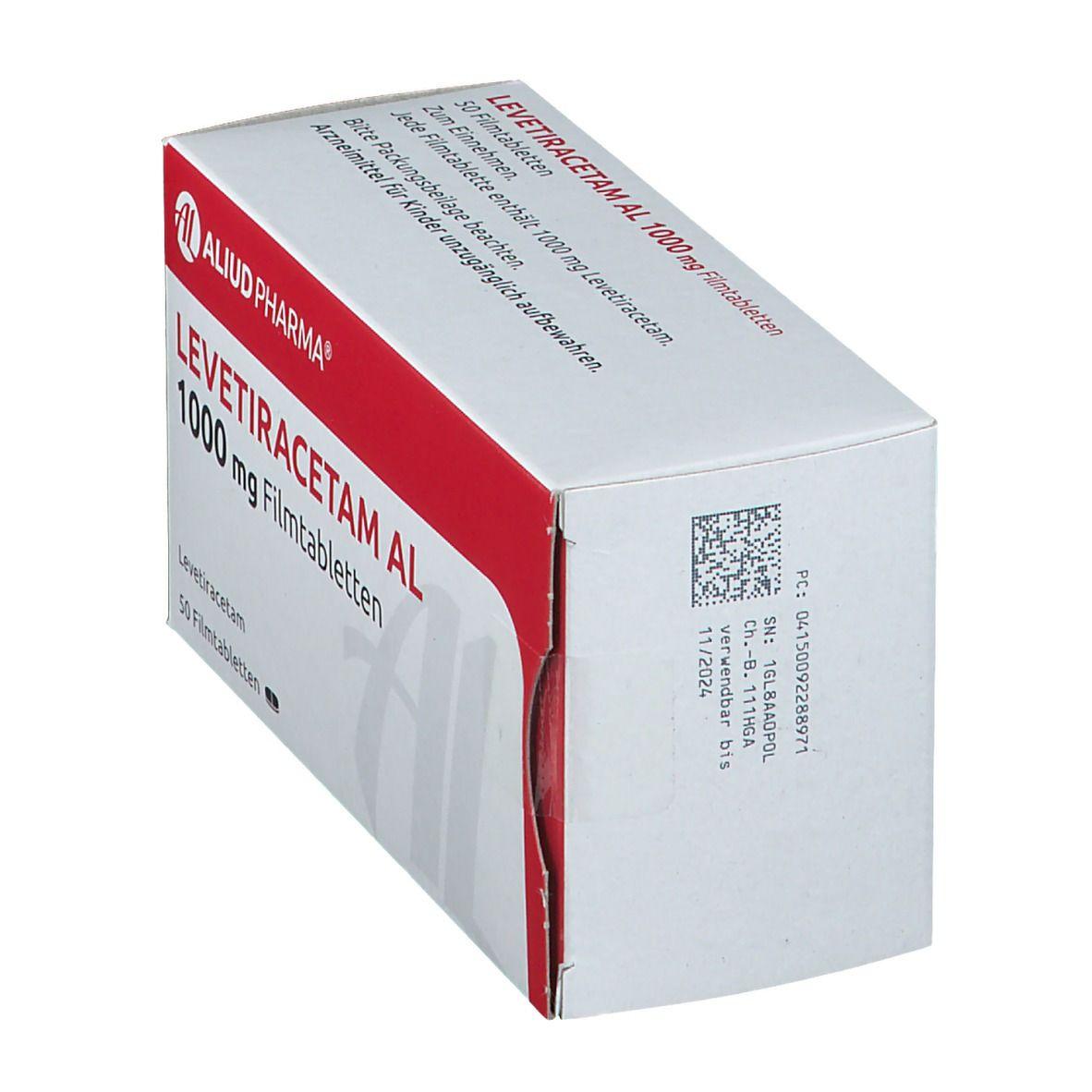 LEVETIRACETAM AL 1000 mg Filmtabletten