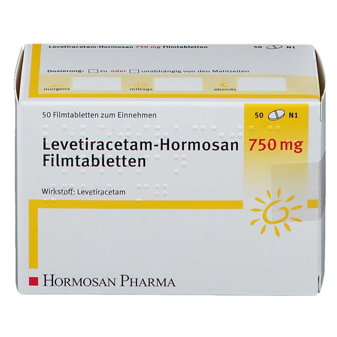 LEVETIRACETAM Hormosan 750 mg Filmtabletten