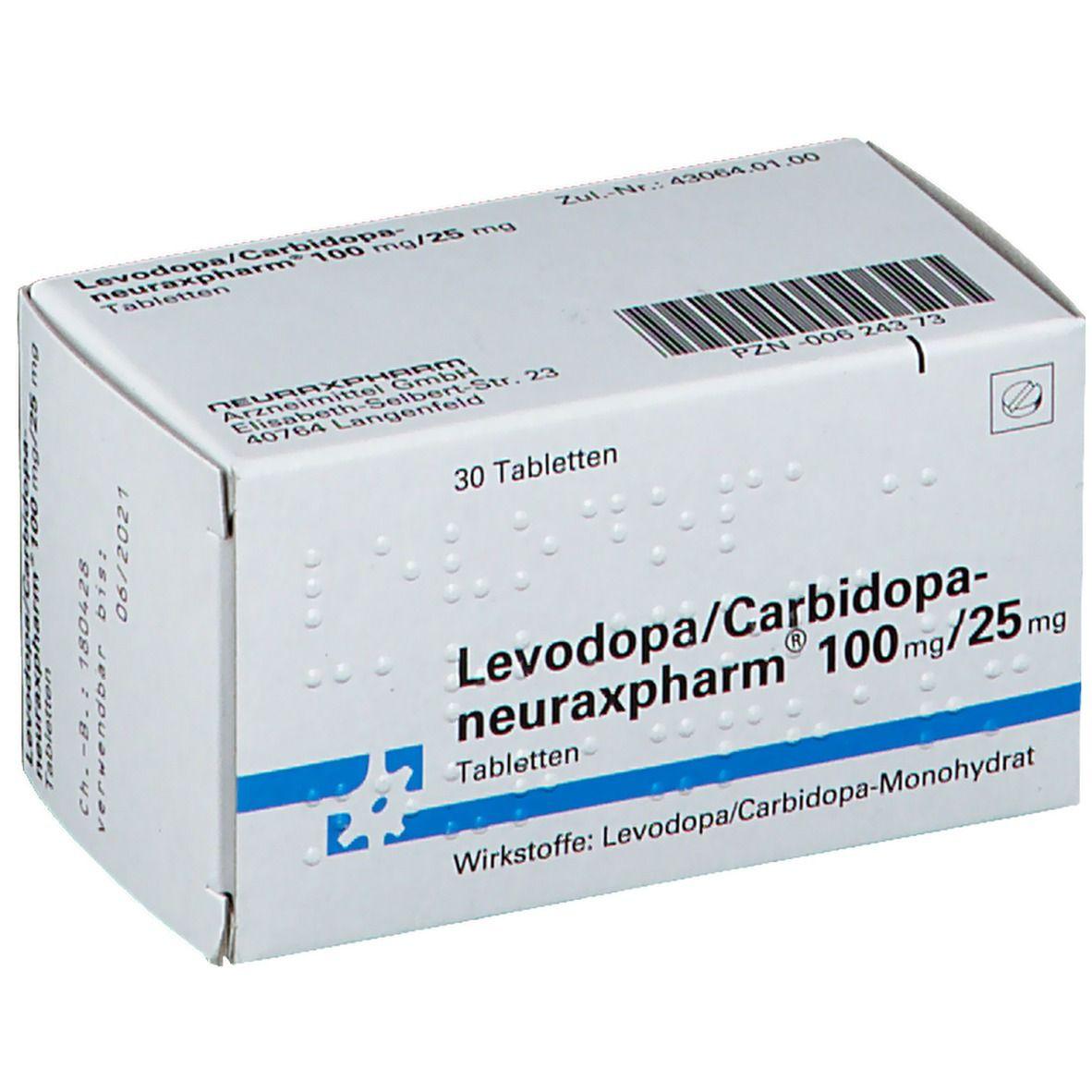 Levodop neuraxpharm 100/25 Tabl.