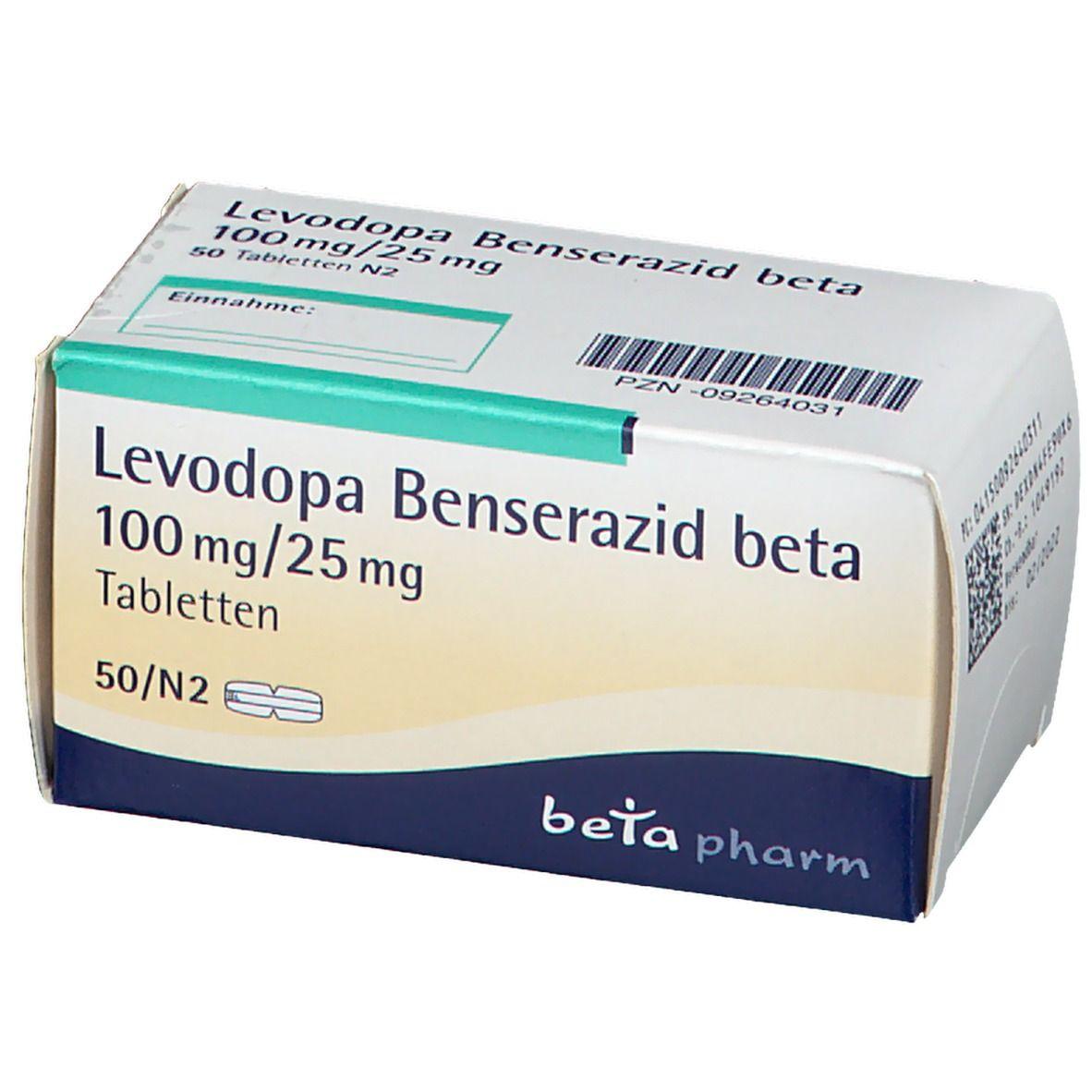 LEVODOPA Benserazid beta100mg/25mg