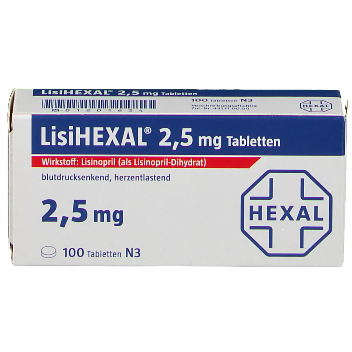 LisiHEXAL® 2,5 mg Tabletten