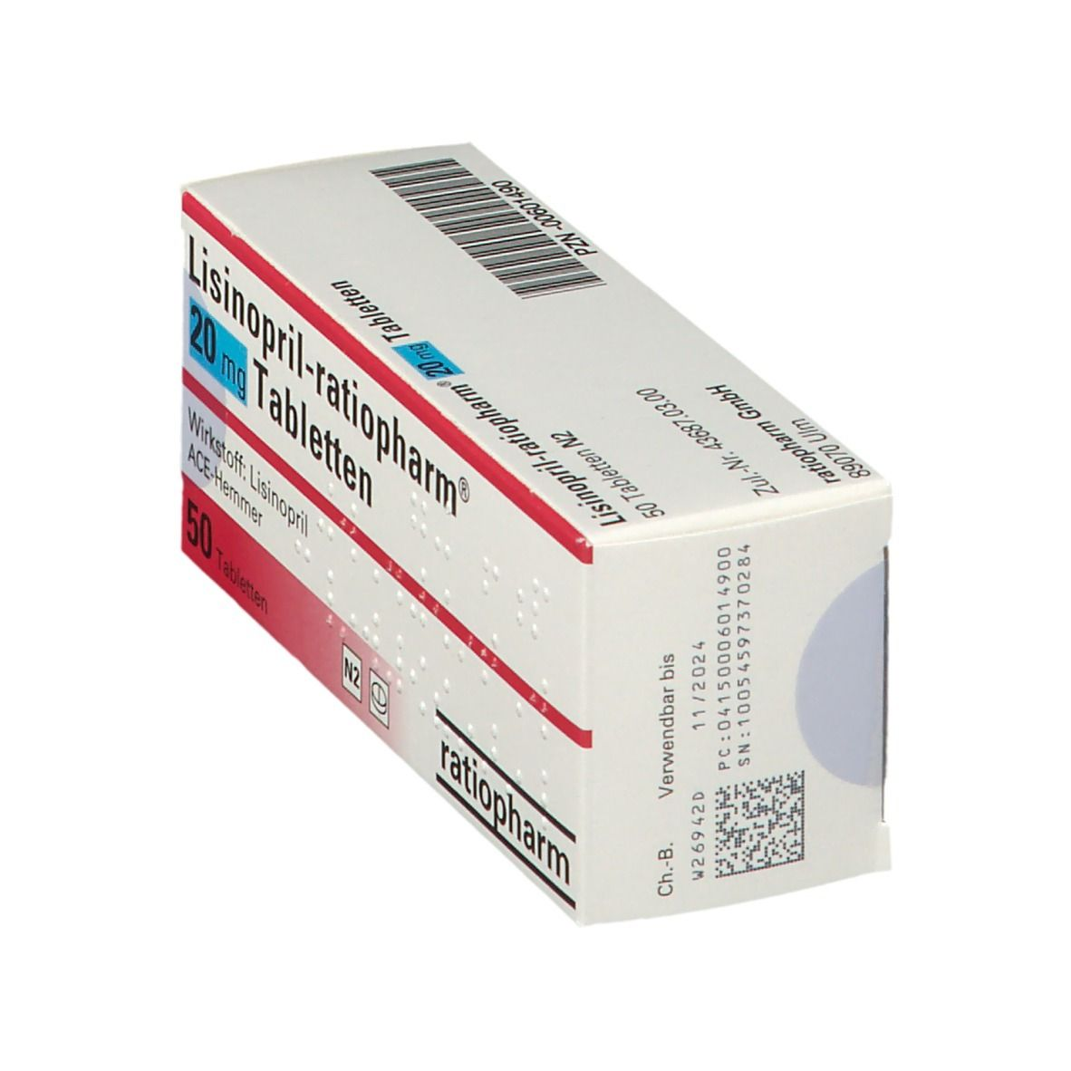 Lisinopril ratiopharm® 20 mg Tabl.