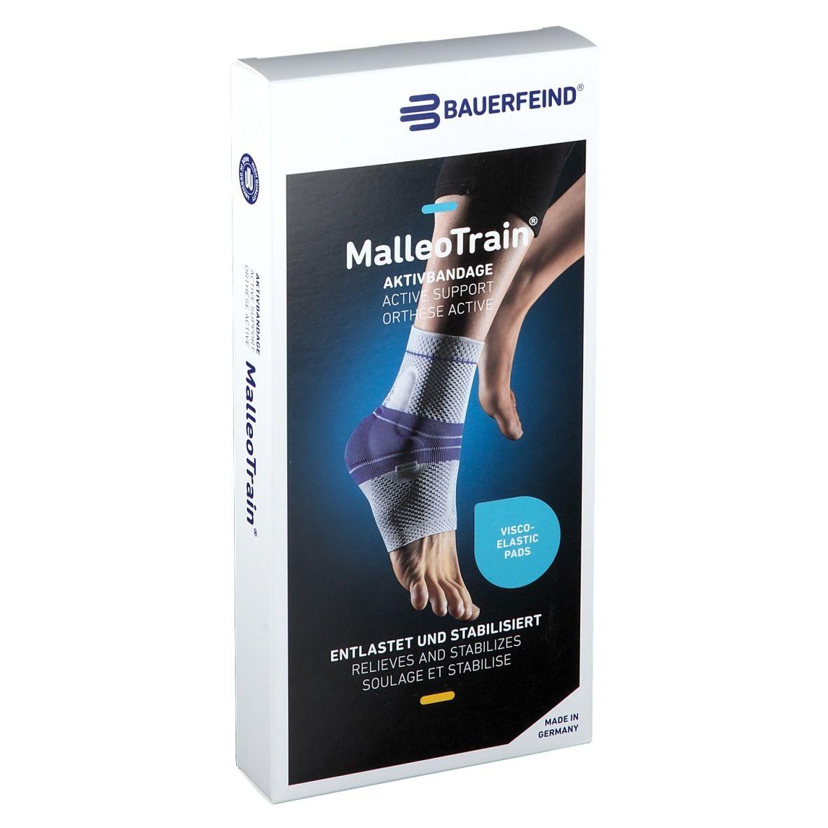 MalleoTrain® Sprunggelenkbandage links Gr.3 titan