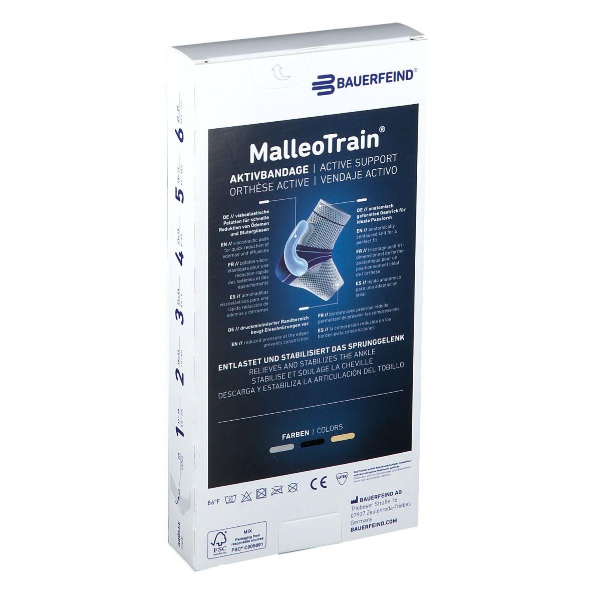 MalleoTrain® Sprunggelenkbandage rechts Gr.5 titan