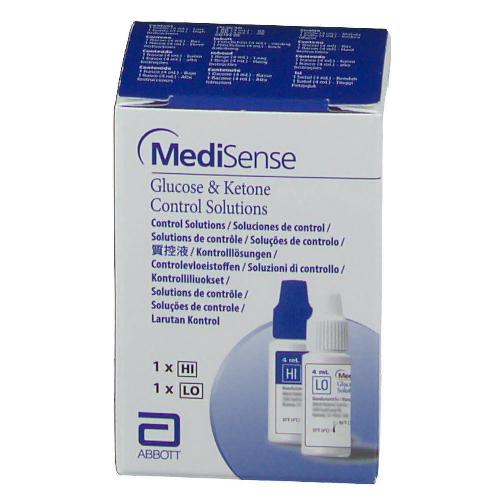MediSense  Kontrolllösung Glukose + Ketone H/L