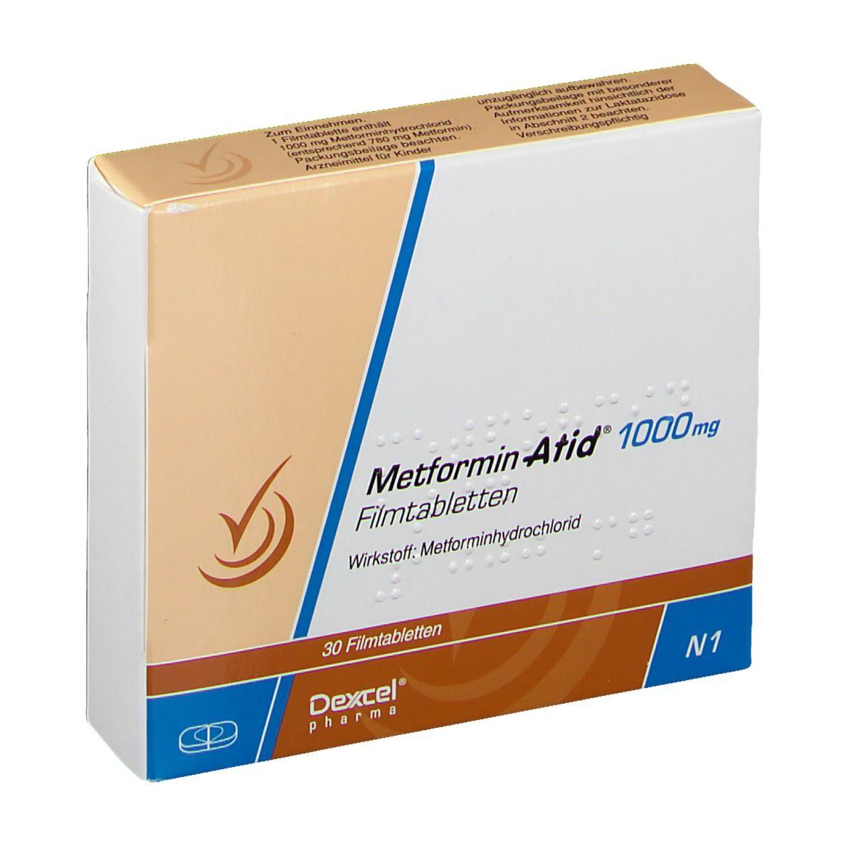 METFORMIN Atid 1000 mg Filmtabletten