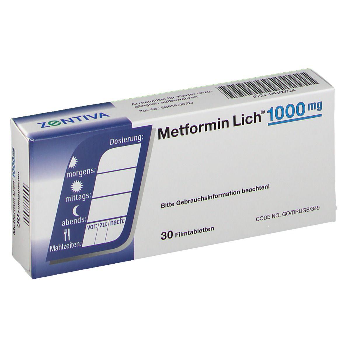 Metformin zur Gewichtsreduktion Diclofenac Dosis