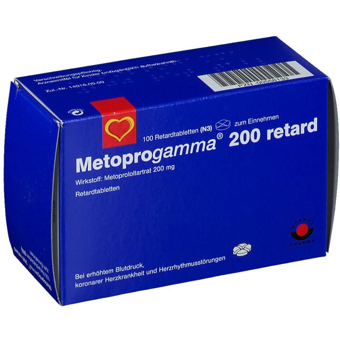 Metoprogamma 200 Retardtabletten