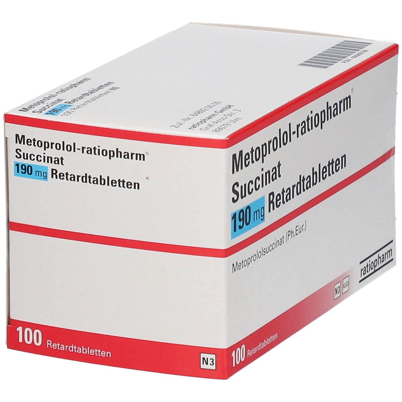 METOPROLOL ratiopharm® Succinat 190 mg Retardtabl.